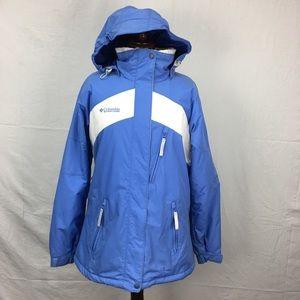 Columbia Blue/White Puffer Jacket